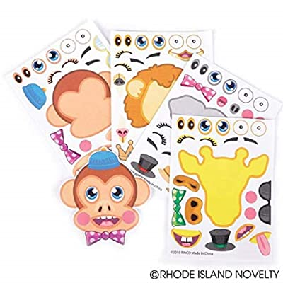 12 Make-a-Zoo Jungle Animal Sticker Sheets New: Toys & Games