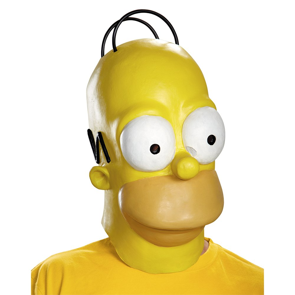 Amazon.com Disguise Menu0027s Homer Adult Costume Mask Yellow One Size Clothing  sc 1 st  Amazon.com & Amazon.com: Disguise Menu0027s Homer Adult Costume Mask Yellow One ...