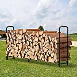 Amagabeli 8ft Outdoor Firewood Log Rack for Fireplace Heavy Duty...