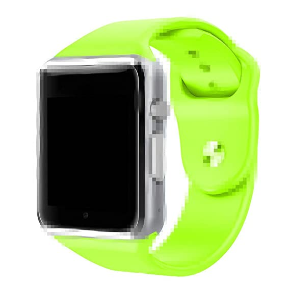 A1 Smart Watch With Passometer Camera SIM Card Call Smartwatch For Xiaomi Huawei Android Phone Better Than GT08 DZ09 (Green)