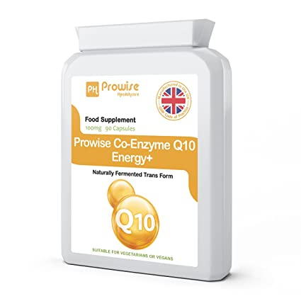 Prowise Co-Enzima Q10 (CoQ10) 100mg 90 cápsulas vegetarianas - Rápida liberación de alta absorción - Reino Unido Fabricado GMP Calidad Asegurada ...