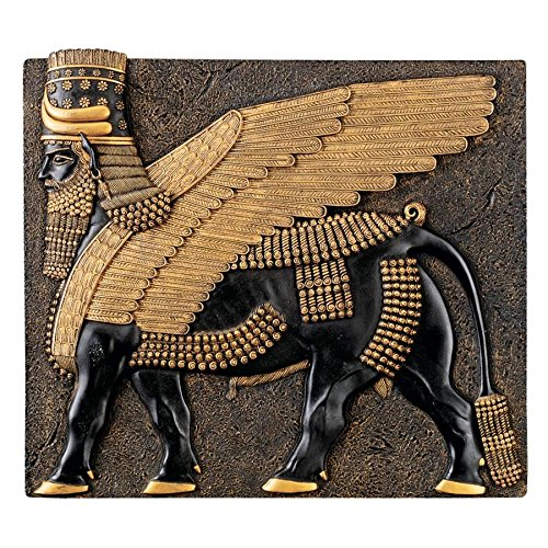 Design Toscano Assyrian Winged Bull Wall Sculpture