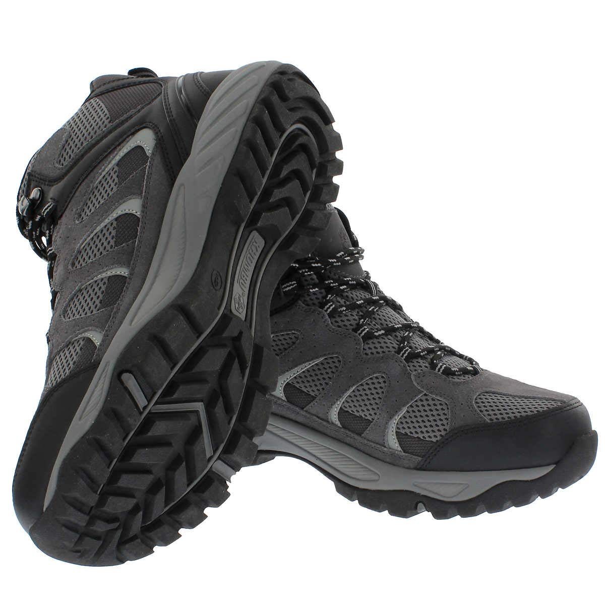 e53b316286b Khombu Tyler Men's Leather Hiking Outdoor Tactical Boots -Black/Grey