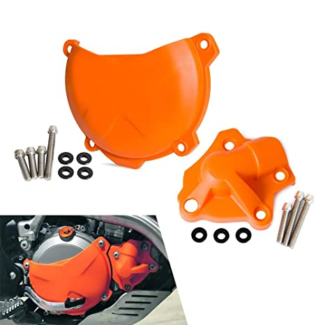 Amazon.com: AjaxStore - Clutch Cover/Water Pump Cover Protector for KTM 250 350 SXF SX-F XCF XC-F EXC-F EXCF SIX DAYS XCF-W XCFW FREERIDE: Home Improvement