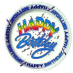 Happy Birthday Dessert Plates 20 Count