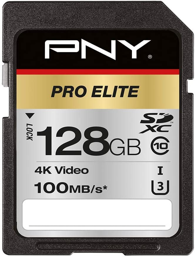 Pny Pro Elite Sdxc Card 128 Gb Class 10 Uhs I U3 100 Mb Computers Accessories