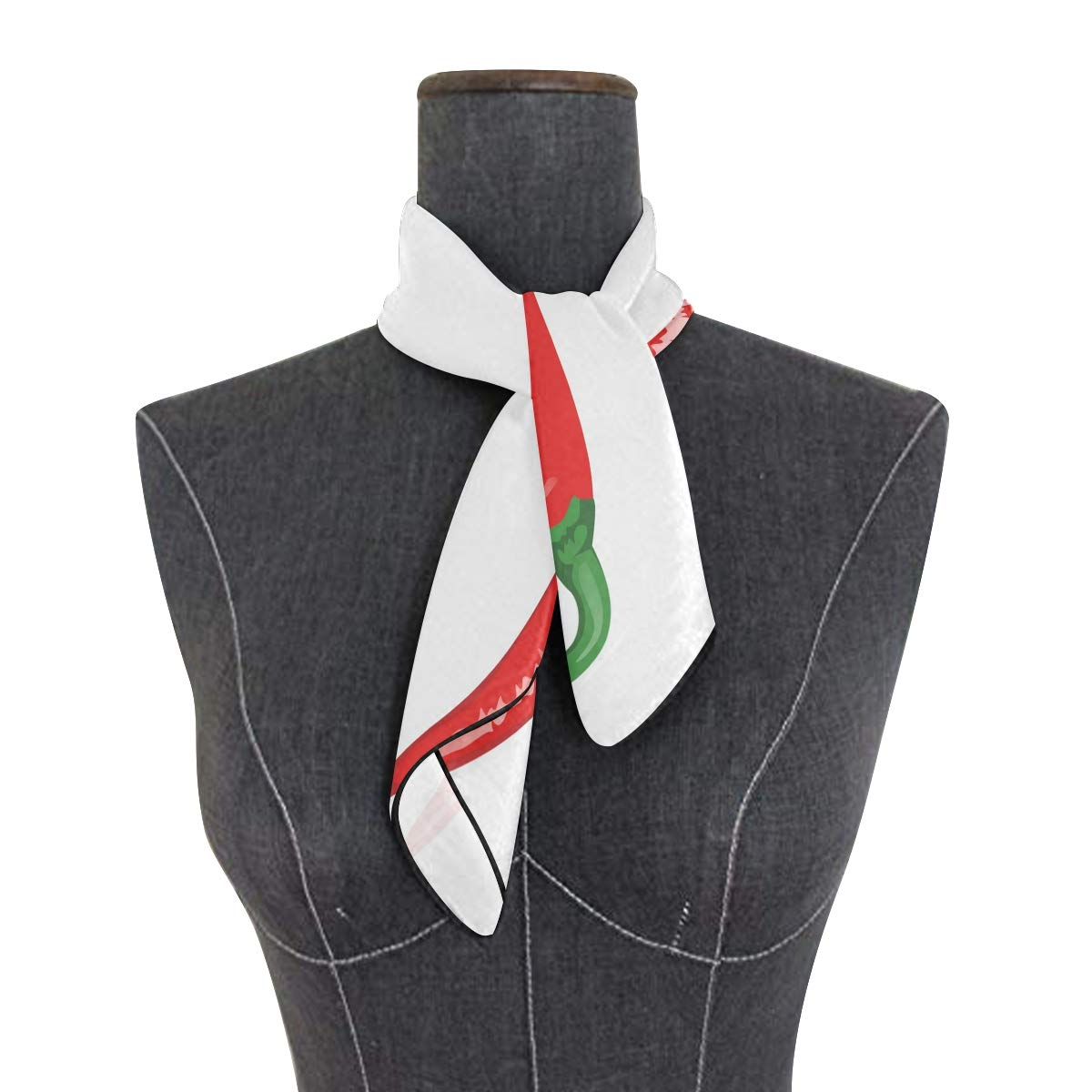 LUPINZ bufanda ligera de chile de pimienta con diseño de seda para ...