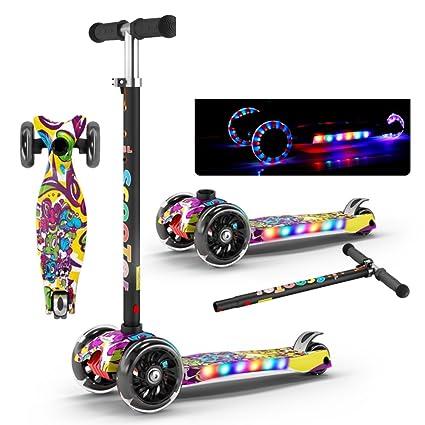 Mini Vadeable Patada Patinetes, 4 ruedas Con luces de ...