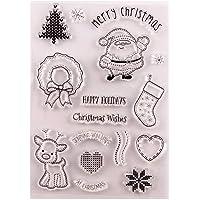 Vrolijke kerstversieringen herten elk sokken ballen duidelijke stempels voor kaarten maken decoratie en Scrapbooking…