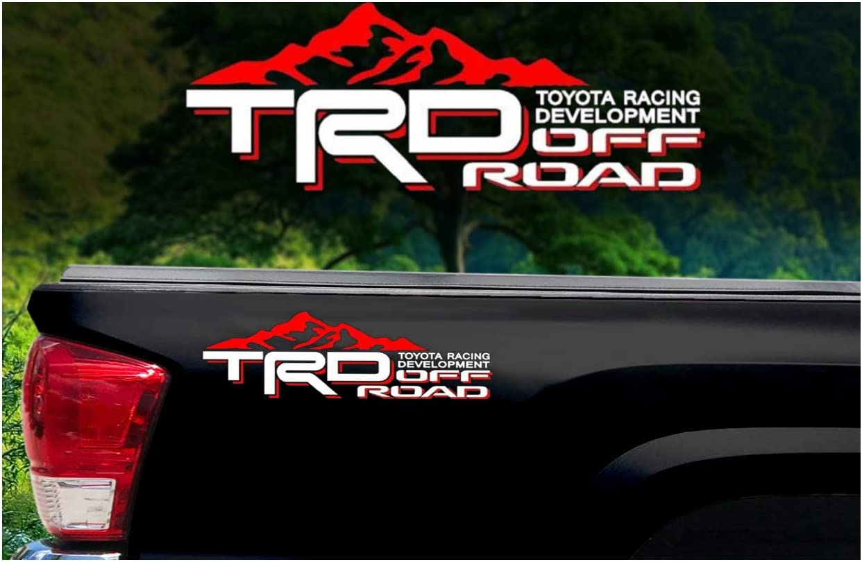 Toyota Pickup 4x4 Sport Accessories for Tacoma Tundra TRD PAIR of Decal Stickers