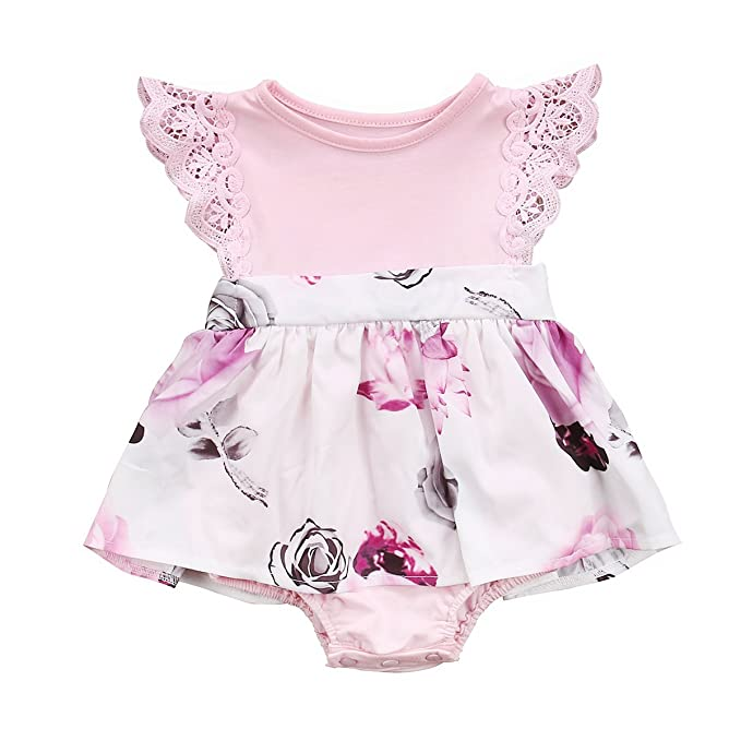 8896f0279525 Amazon.com  Big Sister Little Sister Floral Matching Clothing Lace ...