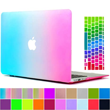 af6994dbee25 MacBook Pro Retina 15'' Case and Keyboard Cover,AICOO Ultra Slim Matte  Rubberized Colorful Rainbow Case Cover With Keyboard Protector For MacBook  Pro ...