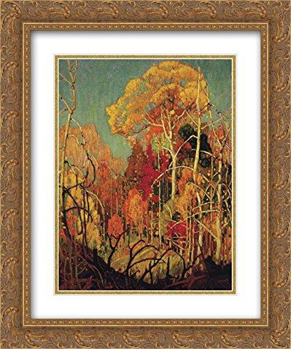 Franklin Carmichael 2x Matted 20x24 Gold Ornate Framed Art Print 'Autumn in - Galleria Franklin