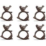 Viridian Bay Mimosa Ridge Collection Madeira Napkin Ring Set of 6