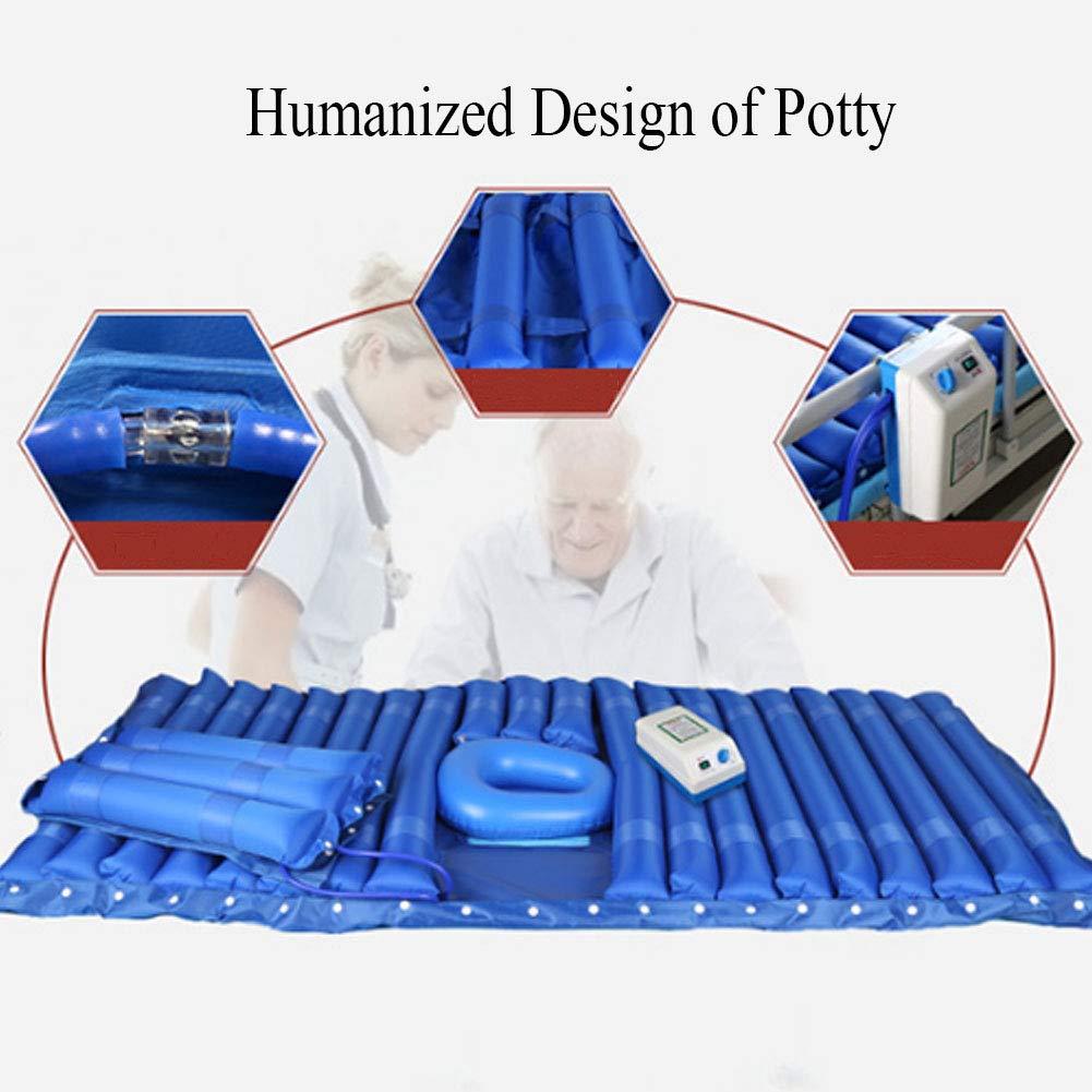 Anti-decúbito colchones desmontable con inodoro lado solapa cojín de aire cama paciente especial jet anti-Decubituses colchón,Blue,200x90cm: Amazon.es: ...