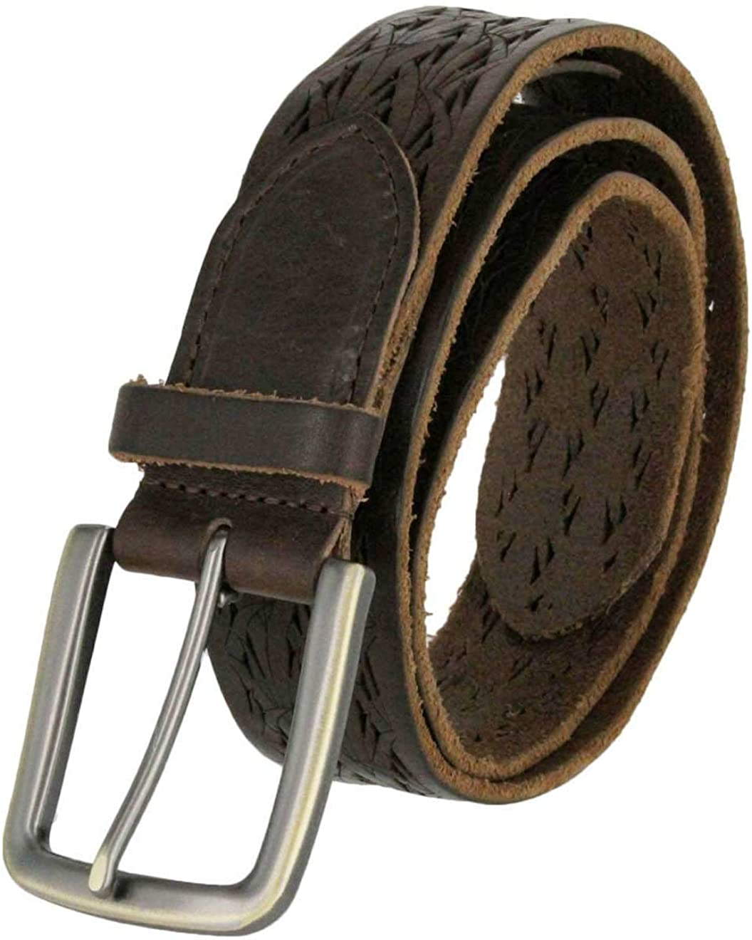 38mm for Men Tulliani Meadow Tooled Leather Belt 1-1//2