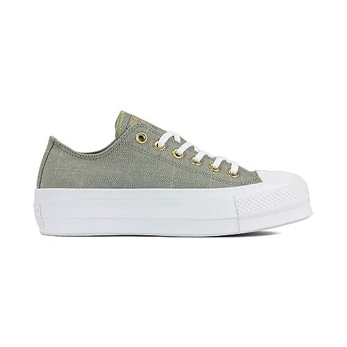 Converse Chuck Zapatillas Taylor All Star Lift para Mujer Zapatillas de Lona Zapatillas Deportivas con Pegatinas Cultz: Amazon.es: Zapatos y complementos