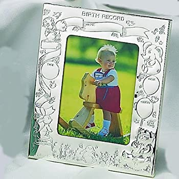 Amazon Com Elegance Silver Silver Birth Record Photo Frame