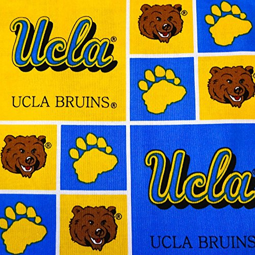 "UCLA Bruins Patchwork NCAA 100% Cotton Print Fabric, 45"" Inches Wide – Sold By The Yard (FB)"