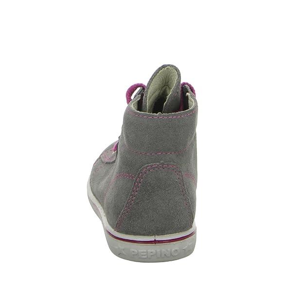 Ricosta Baby Maedchen Schnuerschuhe, Stiefel grau, 460822-9, Gr 23
