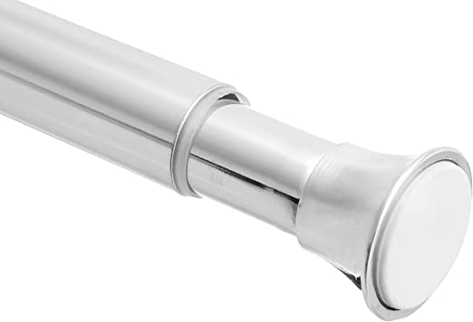 L Chrome Zenna Home  Silver  Tension Rod  40 in