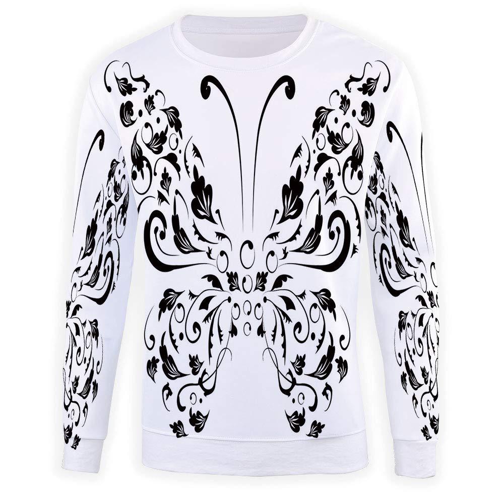 Mens Butterfly Crewneck Sweatshirt-Unisex