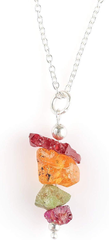 Collar de gemas de granate natural, joyería delicada para mujer, cadena de plata de ley 925 de 18 pulgadas, piedra natal de enero, piedra de amor, regalos de San Valentín para mujeres