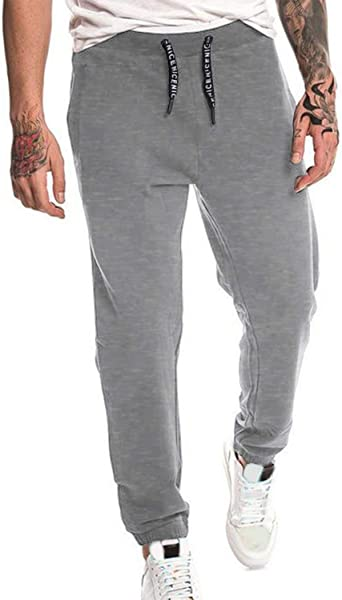 MODCHOK Pantalones de chándal de algodón para hombre Medio 1 grado ...