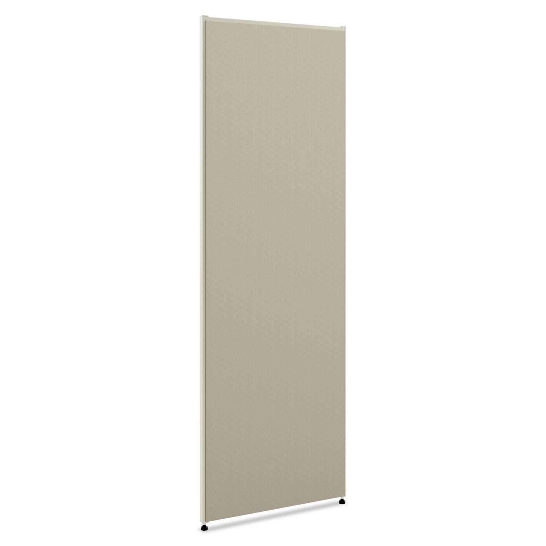 HON Verse Panel, 72'' H x 30'' W, Light Gray Finish, Gray Fabric