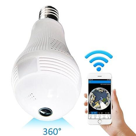 Foco de cámara, 360 Grados, Bombilla LED Inteligente, cámara de Seguridad para el