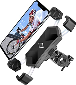 Anti-Shake Bike Phone Mount Spritech 360/° Rotation Universal Bicycle Motorcycle Phone Mount Holder Stand Stable Cradle Clamp for iPhone Android GPS Other Devices Between 4.0 to 6.5 inches