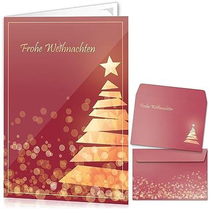 Tarjetas de Navidad con sobres (15 unidades) -Tarjetas plegables ...