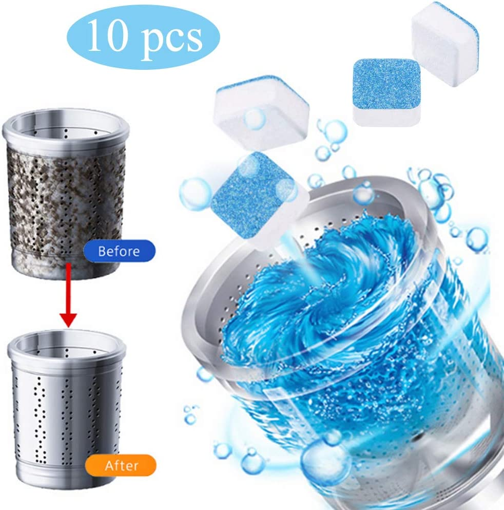 GOBEAUTY Washing Machine Cleaner Premium Washing Machine Descaler Deep Cleaning Washing Machine Tank Cleaning Sheet Effervescent Tablets for All Washing Machine
