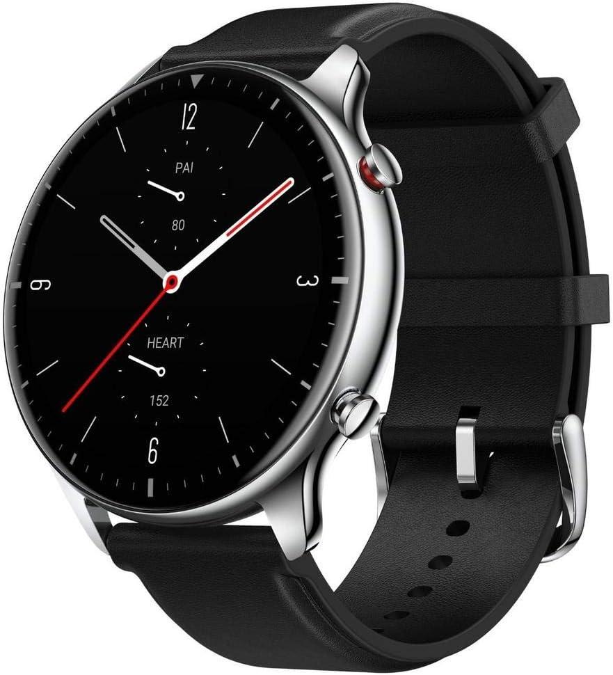 Amazfit GTR 2 Smartwatch Reloj Inteligente Fitness 12 Modos Deportivos 5 ATM Alexa Asistente Voz 3GB Almacenamiento de Música Llamadas telefónicas Bluetooth Stainless