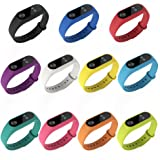 PINHEN for Xiaomi Mi Band 2 Silicone Strap - 11 Pack Waterproof Silicone Wrist Band Wristband Bracelet Accessories for Xiaomi Mi Band 2 Smart Miband (11pcs Set)