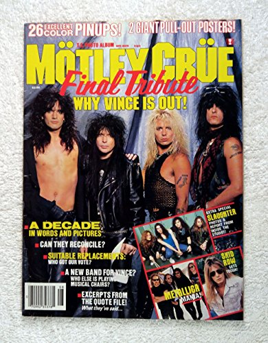 Tommy Lee Studio - Tommy Lee, Mick Mars, Vince Neil & Nikki Sixx - Motley Crue: Final Tribute - Teen Stars Photo Album - August 1992