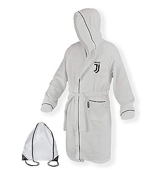 a445b48b83a20 Tex Family Peignoir pour enfant, original Juventus, en micro éponge, blanc  et noir