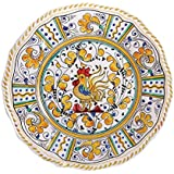 """Le Cadeaux Rooster Dinner Plate, 11"""", Yellow"""