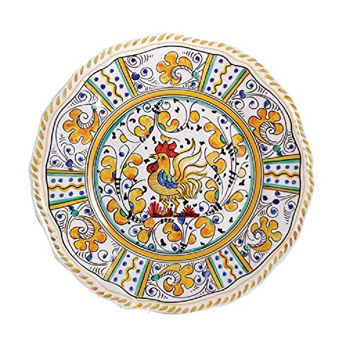 Le Cadeaux Rooster Dinner Plate, 11