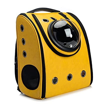72f90473691 Vedem Pet Carrier Bag Cat Dog Traveler Bubble Backpack (Yellow): Amazon.ca:  Pet Supplies