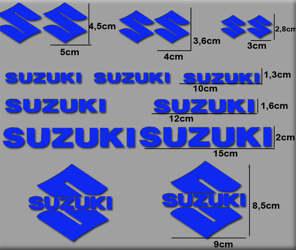 Ecoshirt QA-LBS4-Y1SJ Pegatinas Moto Rgsx Suzuki R169 Stickers Aufkleber Decals Autocollants Adesivi Azul