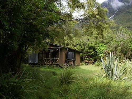 Framed Art Your Wall Back Country Hut at Hollyford Track, Zealand. McKerrow hut at Lake McKerrow. Deutsch: Die McKerr 10x13 Frame