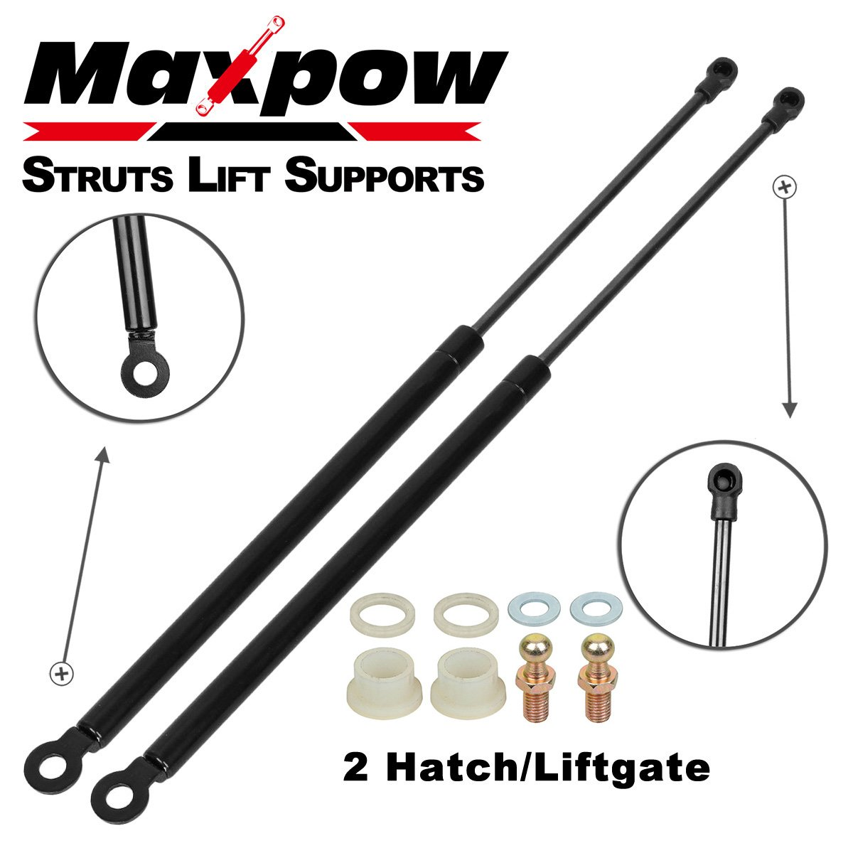 Maxpow Qty 2 Rear Hatch Gas Spring Prop Lift Support Strut Compatible With 1988 1989 1990 1991 Honda CRX Partsam
