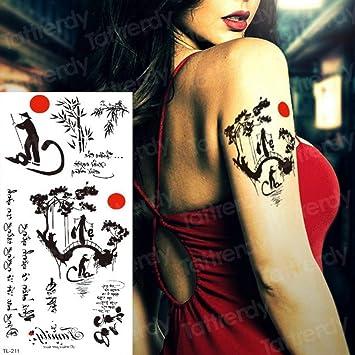 tatuaje pegatina tatuaje mujeres niños unicornio tatuaje espalda ...