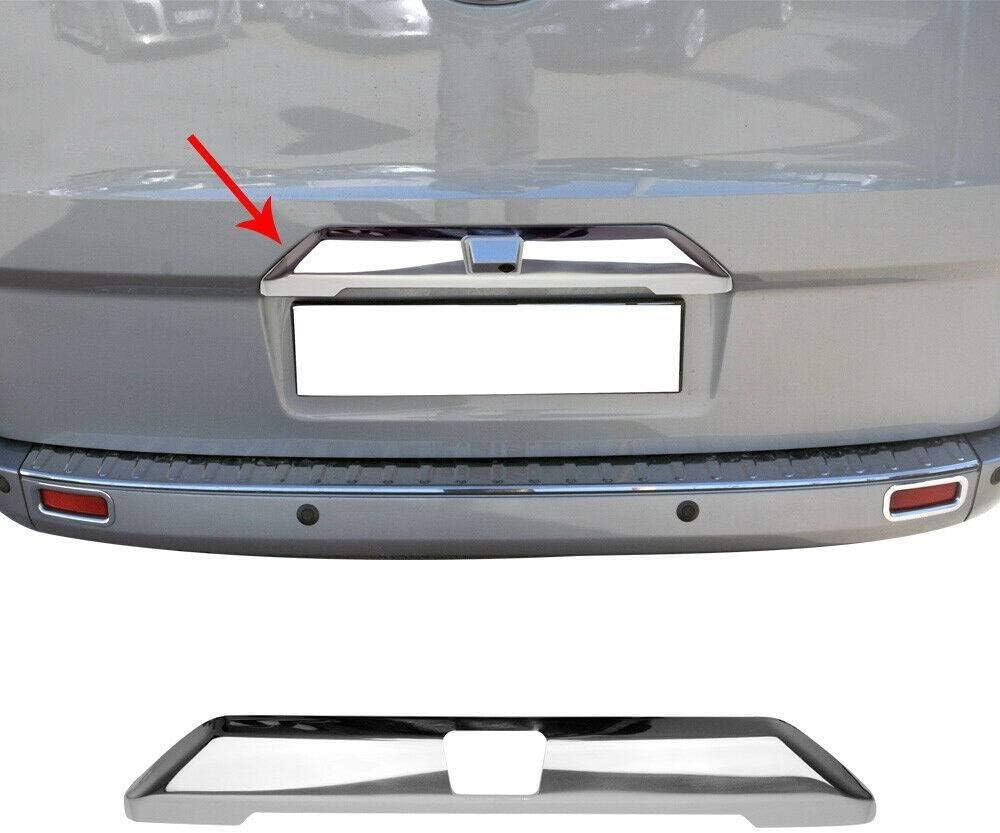 Chrom Kofferraumleiste Kompatibel Mit Ford Tourneo Custom Kofferraum Leiste Aus Edelstahl V2a Einzeltür Mit Kamera Auto