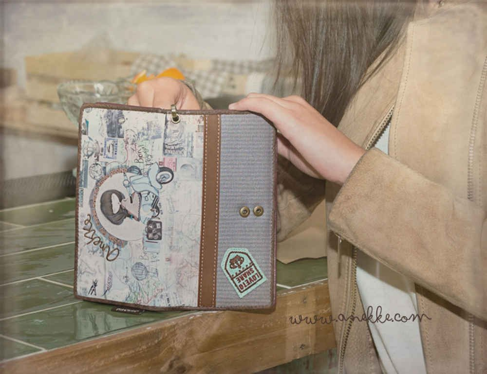 Sany Bags S.L. Anekke Wallet Cartera para Pasaporte, 20 cm ...