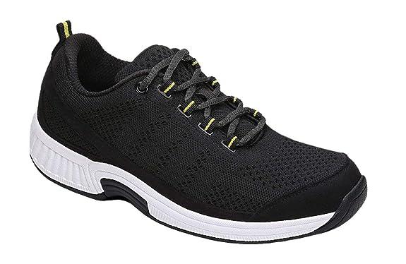 Orthofeet Women's Plantar Fasciitis Orthopedic Diabetic Walking Athletic Shoes Coral Sneakers Black