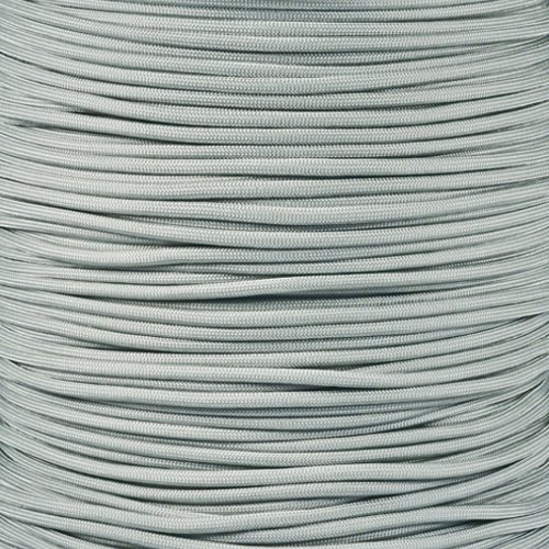 Paracord Planet 550 Cord Type III 7 Strand Paracord 100 Foot Hank - Silver (Silver 100ft Spool)