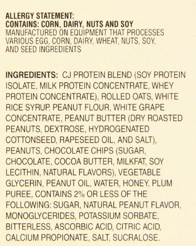 Pre-Tri-O-Plex High Protein Food Bar, Peanut Butter Choc Chip, 4.2 Ounce Bar, 12-Count