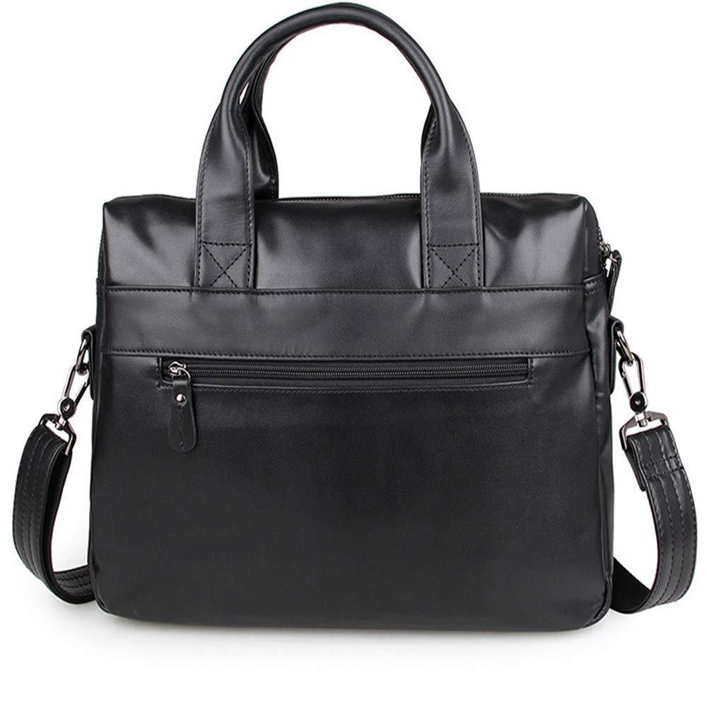 39.5x9x29cm Briefcase Color : Brown Black//Brown MLMHLMR Handbag Mens Handle Shoulder Messenger Bag Fashion Business Briefcase